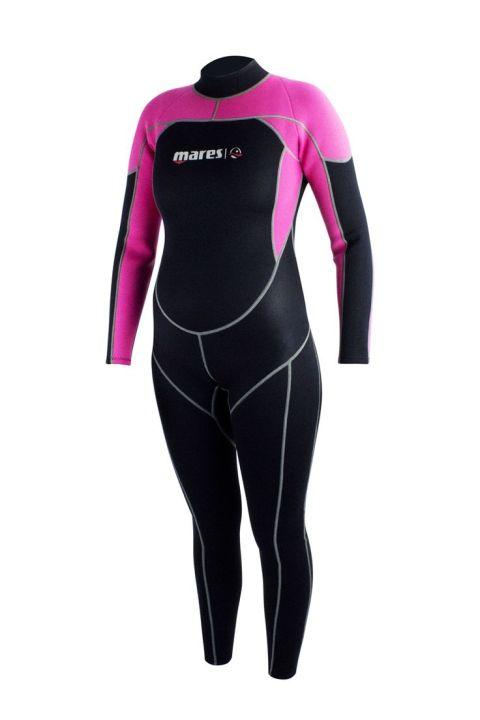 Roze Mares steamer Mira wetsuit rits achter 2.2mm.jpg
